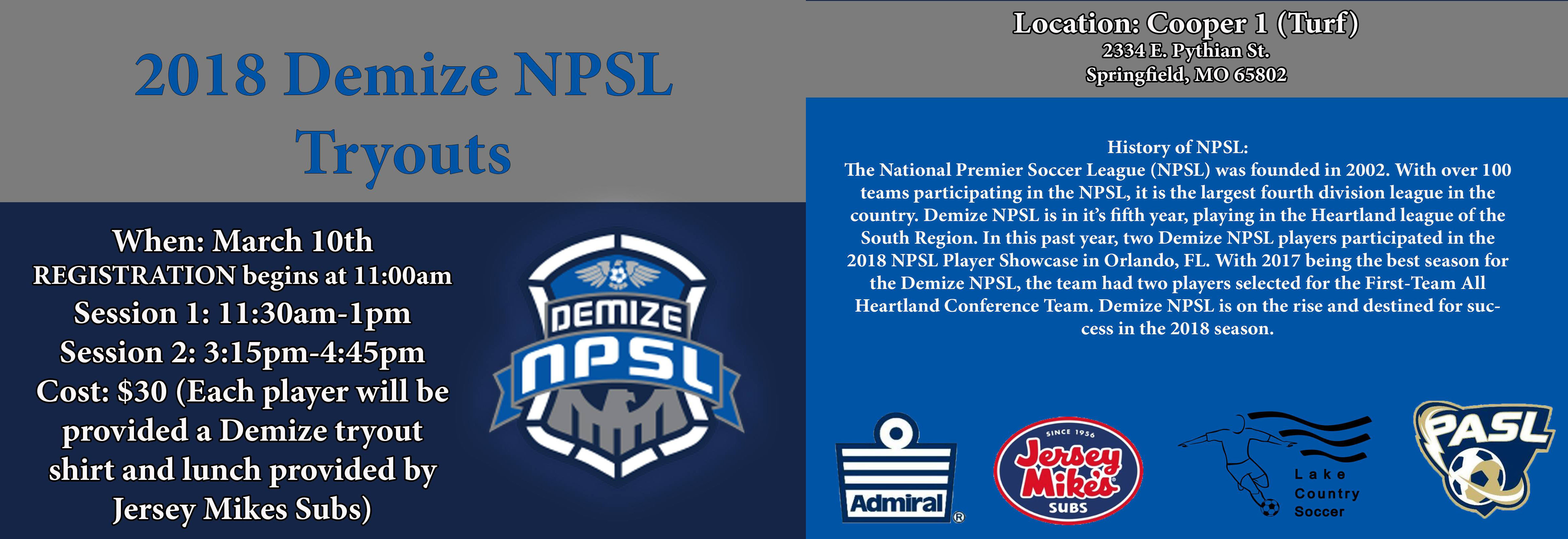Demize NPSL Tryouts