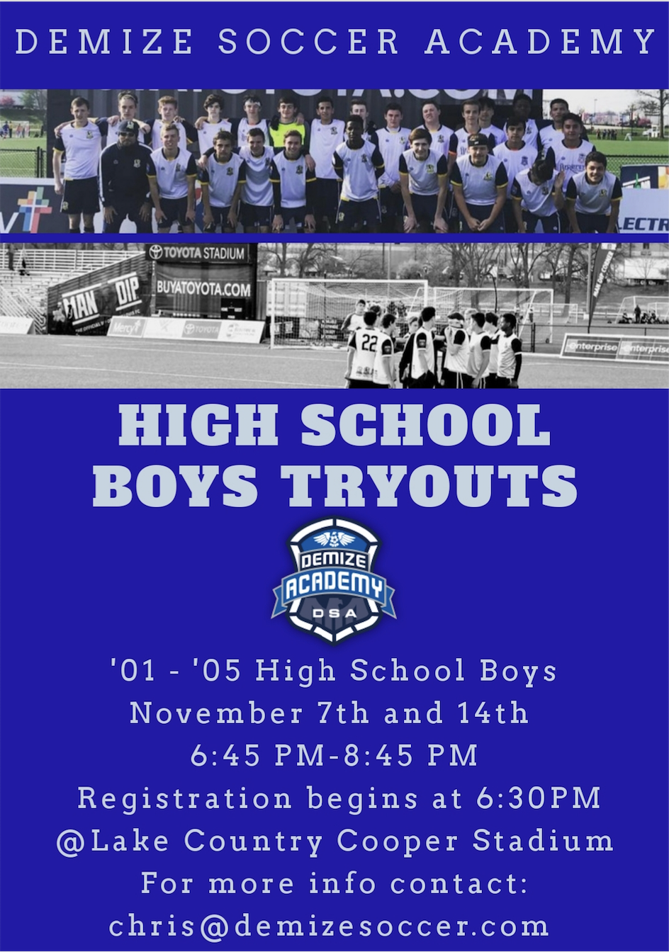 DEMIZE ACADEMY HIGH SCHOOL BOYS TRYOUTS !