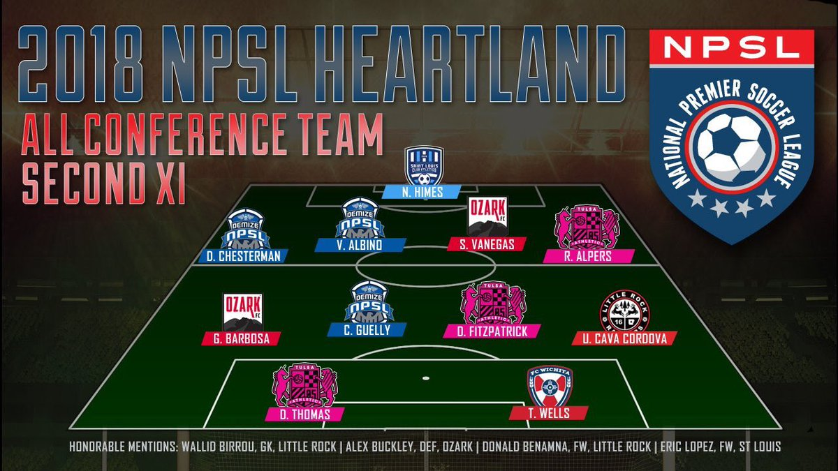 Three Demize NPSL Players named to All Conference Team
